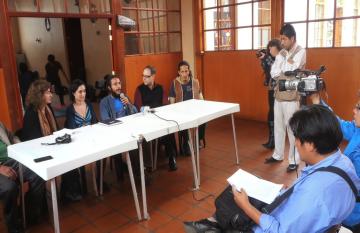 Quito press conference
